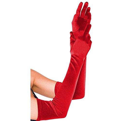 CHIC DIARY Long Satin Stretch Gloves Above Elbow Bridal Prom Wedding Formal Party Gloves (Long Stretch Satin Gloves)