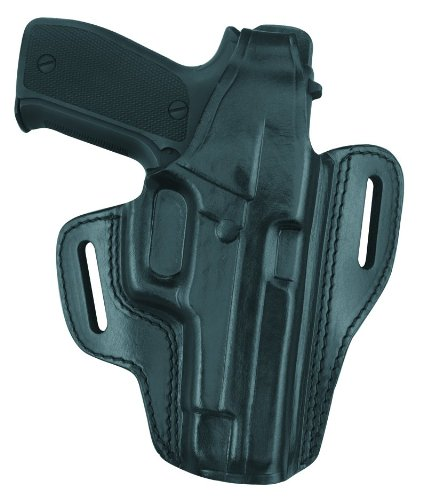 Gould & Goodrich B802-250 Gold Line Two Slot Pancake Holster (Black) Fits SIG 250 COMPACT 9MM, 40, .357 ()