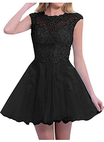 Braut Abschlussballkleider Festlichkleider Schwarz Partykleider Marie Kurzes Abendkleider Tanzenkleider La Damen 570cH4wRq