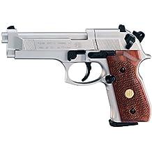 Beretta 92FS, Nickel, Wood Grips air pistol