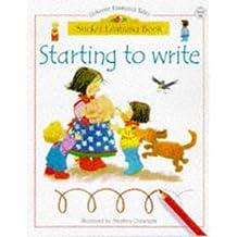 Starting to Write (Usborne Sticker Learning Books) by Usborne Books (1999-03-03)