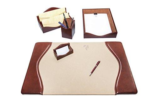 Maruse Luxury Leather Desk Set, 5 Piece by Maruse