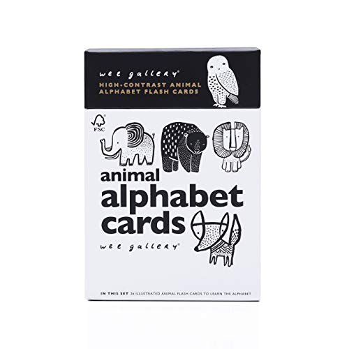 (Wee Gallery, Animal Alphabet Cards, Learning, Flash Cards)