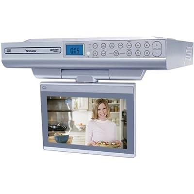"VENTURER KLV39082 8"" Under-Cabinet Kitchen LCD TV/DVD Combo"