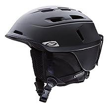Smith Optics Camber Adult Ski Snowmobile Helmet , Matte Black , Small
