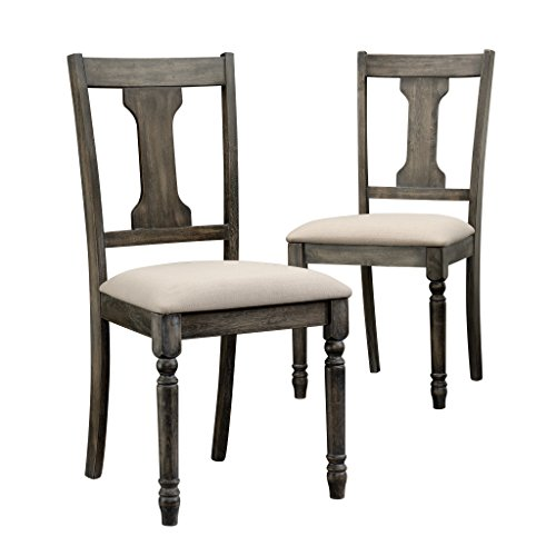 Sauder 417913 Barrister Lane Weathered Dining Chairs, L: 18.70