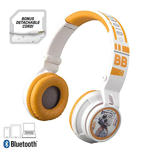 Star Wars Bluetooth Headphones for Kids Wireless Rechargeable Kid Friendly Sound (Star Wars) (Star Wars Headphones For Kids)
