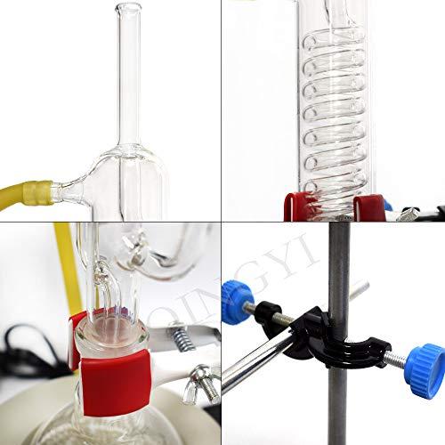 10 extractores de soxhlet de laboratorio de 250 – 1000 ml, extractor de grasa serpentina de vidrio con calentador eléctrico, mantel de serpentina, dispositivo de extracción de vidrio para destilar cristales, aparato