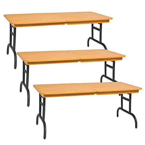 Set of 3 Wood Color Break Away Tables for WWE Wrestling Action Figures by Figures Toy Company