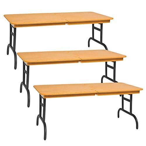 Wwe Table Set (Set of 3 Brown Breakable Tables for WWE Jakks Mattel Wrestling Action Figures)