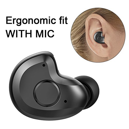 Bluetooth Headset, AngLink 0.13oz Only V4.1 Mini Bluetooth Earpiece Wireless Earpiece In-ear Bluetooth Earbuds with Microphone Mic Hands-free for iPhone Samsung and Other Smartphones - 0.13 Ounce 100% Natural
