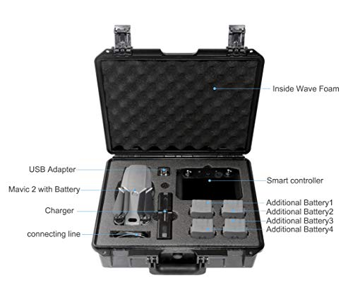 Koozam DJI Mavic 2 Waterproof Hard Case, with Smart Controller, for Mavic 2 Pro and Zoom Drones, Waterproof and Shockproof (for Mavic 2 with Smart Controller) by Koozam (Image #1)