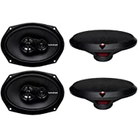 4) New Rockford Fosgate R169X3 6x9 260W 3 Way Car Coaxial Speakers Audio Stereo
