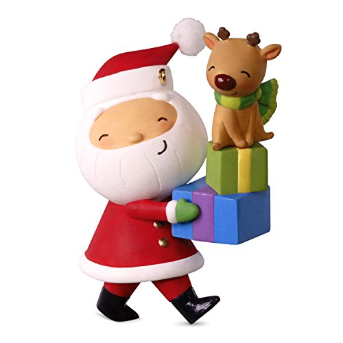 Kris Kringle Christmas - Hallmark Kringle and Kris Delivering Gifts Ornament keepsake-ornaments Santa Claus