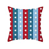 YAYUMI Polyester Print Pillow Case,Independence Day 4th of July Pillow Cases Sofa Cushion Cover 45cm x45cm/18x18 inches for Home Pillow Case
