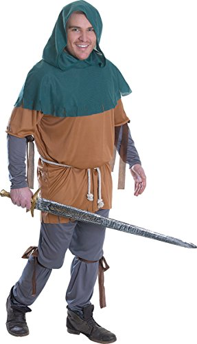 Little John Costume Ideas (Men's Medieval Robin Hood Fancy Dress Party Outfit Little John Costume)