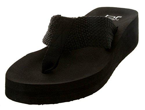 Kvinners Eva To Flip-flop Sandal (svart, 5)