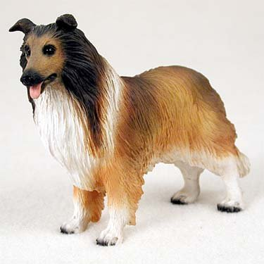 Dog Collie Figurine (Collie Dog Figurine - Sable)