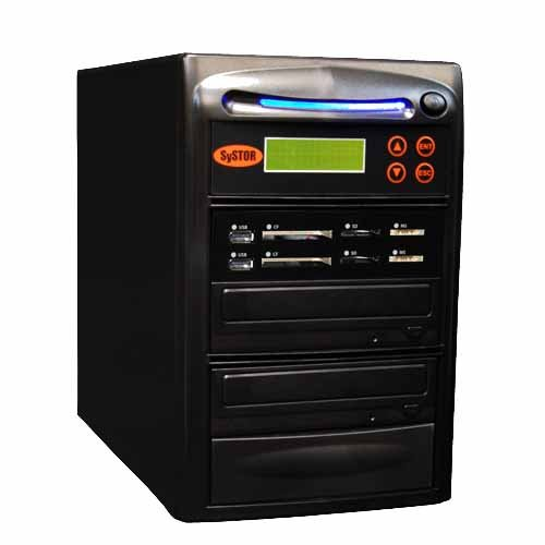 Systor 1:1 USB/SD/CF/MS All in One Combo Flash Memory Drive Card Disc Duplicator (Backup Sys Usb)