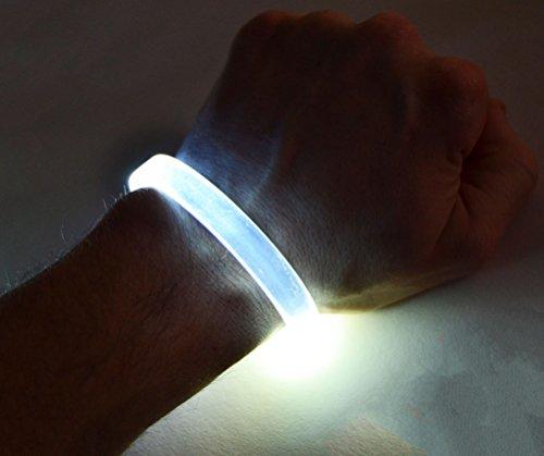 GlowCity LED Light Up Bracelets (White) -