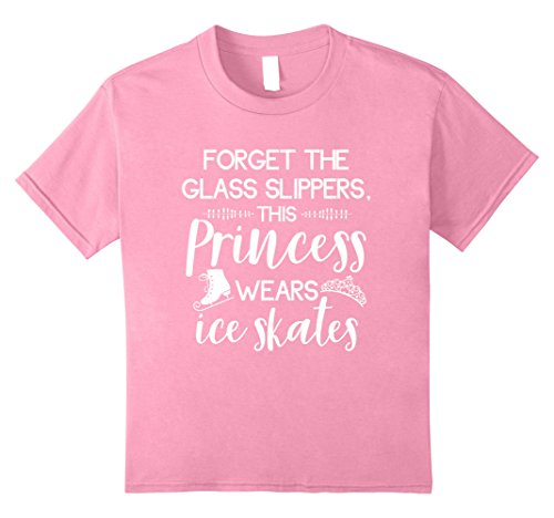 Kids Cute Figure Skater T-Shirt For Ice Skating Princess Girls 8 Pink (Ice Skater T-shirt)