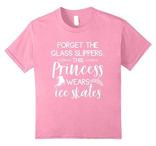 Kids Cute Figure Skater T-Shirt For Ice Skating Princess Girls 8 Pink (Ice Skater T-shirt)