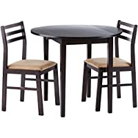 Coaster Home Furnishings 3-piece Dining Set with Drop...