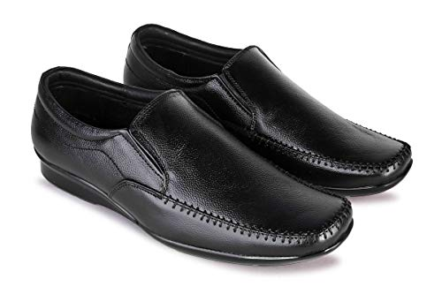 NEO LEATHER Men's Genuine Leather Slip On Formal Loafers-(UK 6 to UK 10)
