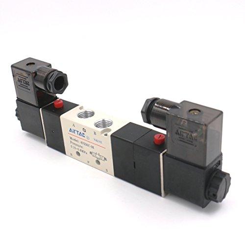 Baomain Pneumatic Solenoid Air Valve 4V230C-08 AC 110V 5 Way 3 Position PT1/4
