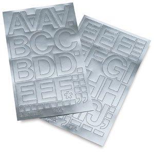 amazoncom chartpak vinyl letters metallic silver 2 With silver vinyl letters