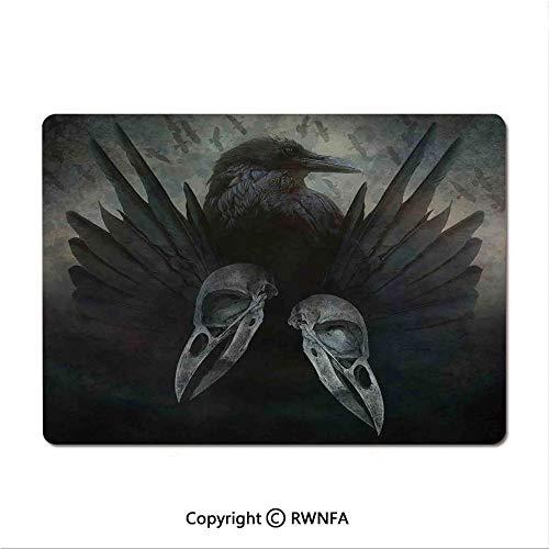 Custom Mouse pad,Illustration of Skeleton Grim Reaper Dead Farmer Skull with Hood Danger Evil(9.8