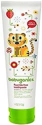 Babyganics Flouride-Free Toothpaste - Strawberry - 4 oz