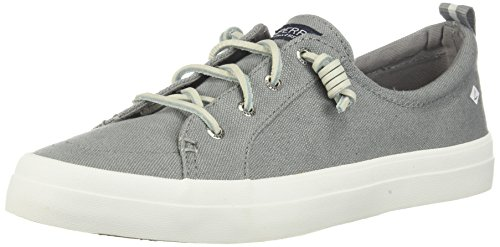 Sperry Top-Sider Women's CREST VIBE LINEN Shoe, grey, 7 M US