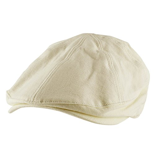 Canvas Newsboy Cap - Morehats 100% Cotton Canvas Newsboy Cap Gatsby Golf Hat - Off White