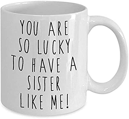 Funny Mugs This Is What An Awesome Sister Looks Like Family MAGIC MUG
