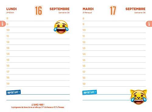 Agenda scolaire Emoji: 9782755641295: Amazon.com: Books