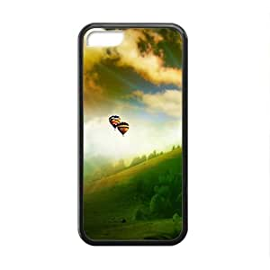 Personalized Creative Cell Phone Case For iPhone 6 plus (5.5),green mountains and sky hot-air balloon