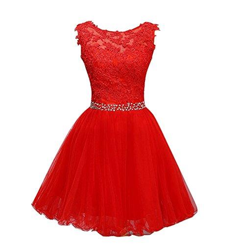 Red royal evening dress elegant evening gown - 7