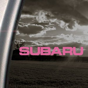 Subaru Pink Decal Impreza Baja WRX Truck Window Pink Sticker