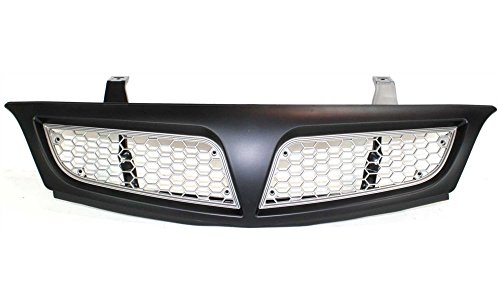 Pontiac Montana Van (Evan-Fischer EVA17772031143 Grille for Pontiac Montana Van 01-05 Painted-Black Shell/Painted-Silver Insert Replaces Partslink# GM1200469)