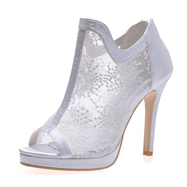 Black 5 Lace Women'S Evening amp;Amp; Stiletto Red Wedding Ivory UK5 Summer Party Spring CN38 White 5 Heel US7 Fall EU38 Ztnw4qvt