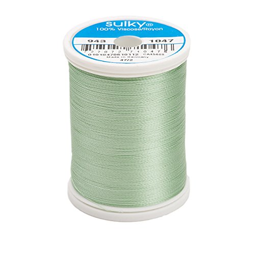 Sulky Of America 268d 40wt 2-Ply Rayon Thread, 850 yd, Mint Green