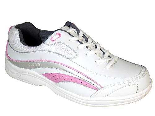 White//Fuschia Brunswick Ladies Mystic Bowling Shoes