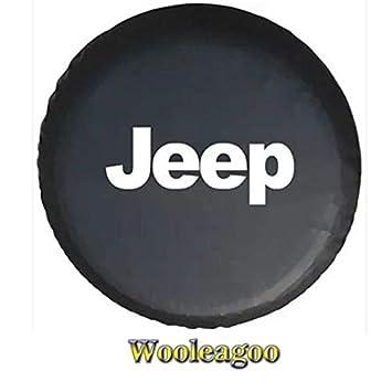 17' Fundas de neumá ticos de repuesto PVC para Jeep Wrangler Liberty Cherokee Wooleagoo