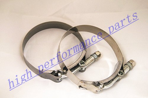 """2pcs 3.5"""" Stainless T-bolt Clamp Turbo Charger Intercooler Piping Silicone Hose Coupler Elbow Reducer"""