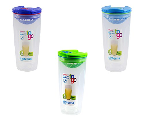Sistema 23.6OZ / 700ML Shaker To Go, Colors Vary, 1-pack