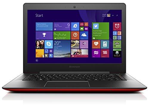 Lenovo U41-70 35,6 cm (14 Zoll Full HD Matt) Slim Ultrabook (Intel Core i5-5200U, 2,7GHz, 8GB RAM, 256GB SSD, Intel HD Grafik, Windows 10) rot