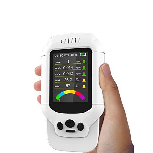 LDRAGON Detector de Calidad del Aire formaldehído (HCHO) Detector, TVOC probador de Pruebas precisas con Pantalla de Tiempo para la-8.7 * 3.5 * 15.5CM: ...