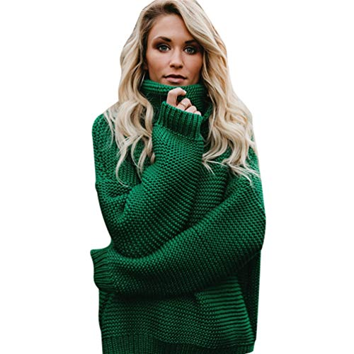Femme Col Haut Tricot WanYangg Longues Maille Hiver Grosse Pull Pull Oversize Sweater Manches EqAwH4q