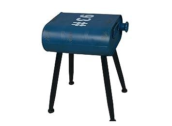 Sgabello da barile a petrolio sedia a barilotto in metallo retro